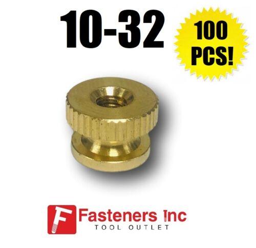 #10-32 Brass Solid Knurled Thumb Nut UNF Decorative QTY 100