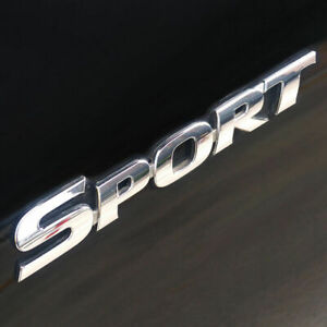 3D-Silver-SPORT-Logo-Car-Sticker-Sport-Emblem-Side-Fender-Rear-Trunk-Badge-ABS