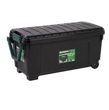 169 Qt. Remington Black Storage Box Tote Bin Organizer Sports Camping Hunting