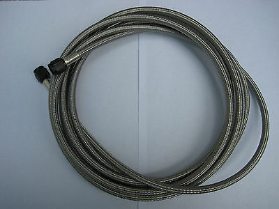 NOS//NITROUS//NX//ZEX//EDELBROCK//HOLLEY// 16 FT BRAIDED S//STEEL LINE-NEW-LOW PRICE!