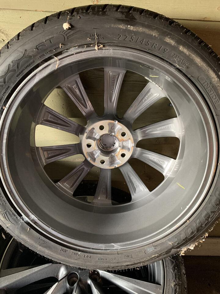 """4 stk 19"""" Originale Nissan Qashqai alufælge med..."""