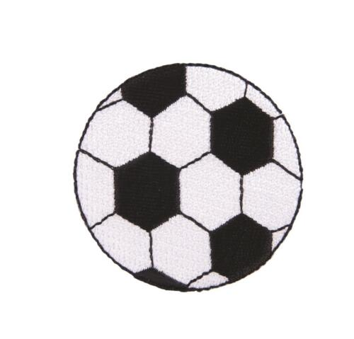 Football Sew On Motifs or Iron On Dresses Garments Appliques Patches 5.4 cm
