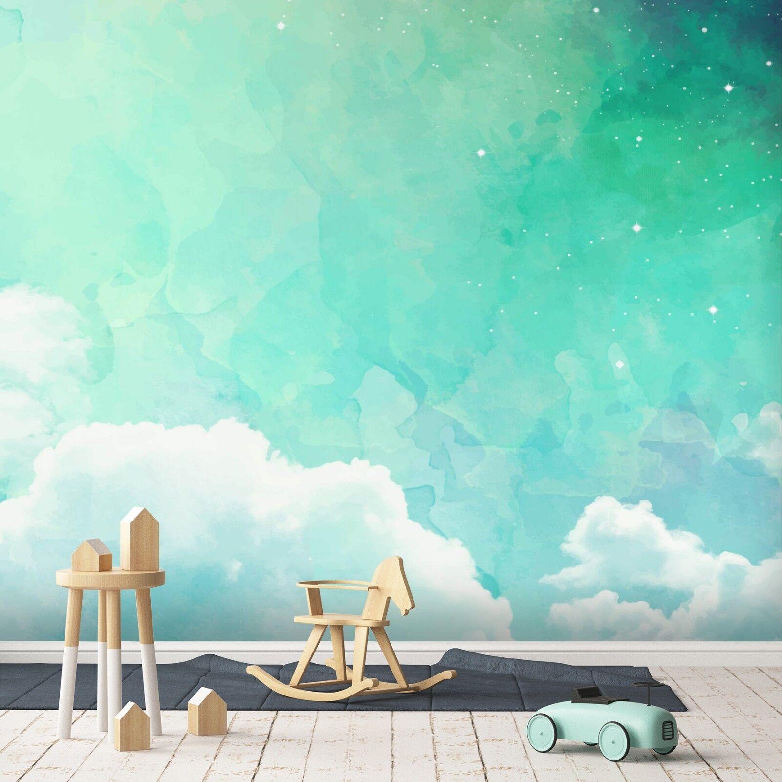 3D Grün Starry Sky 544 Wallpaper Murals Wall Print Wallpaper Mural AJ WALL UK