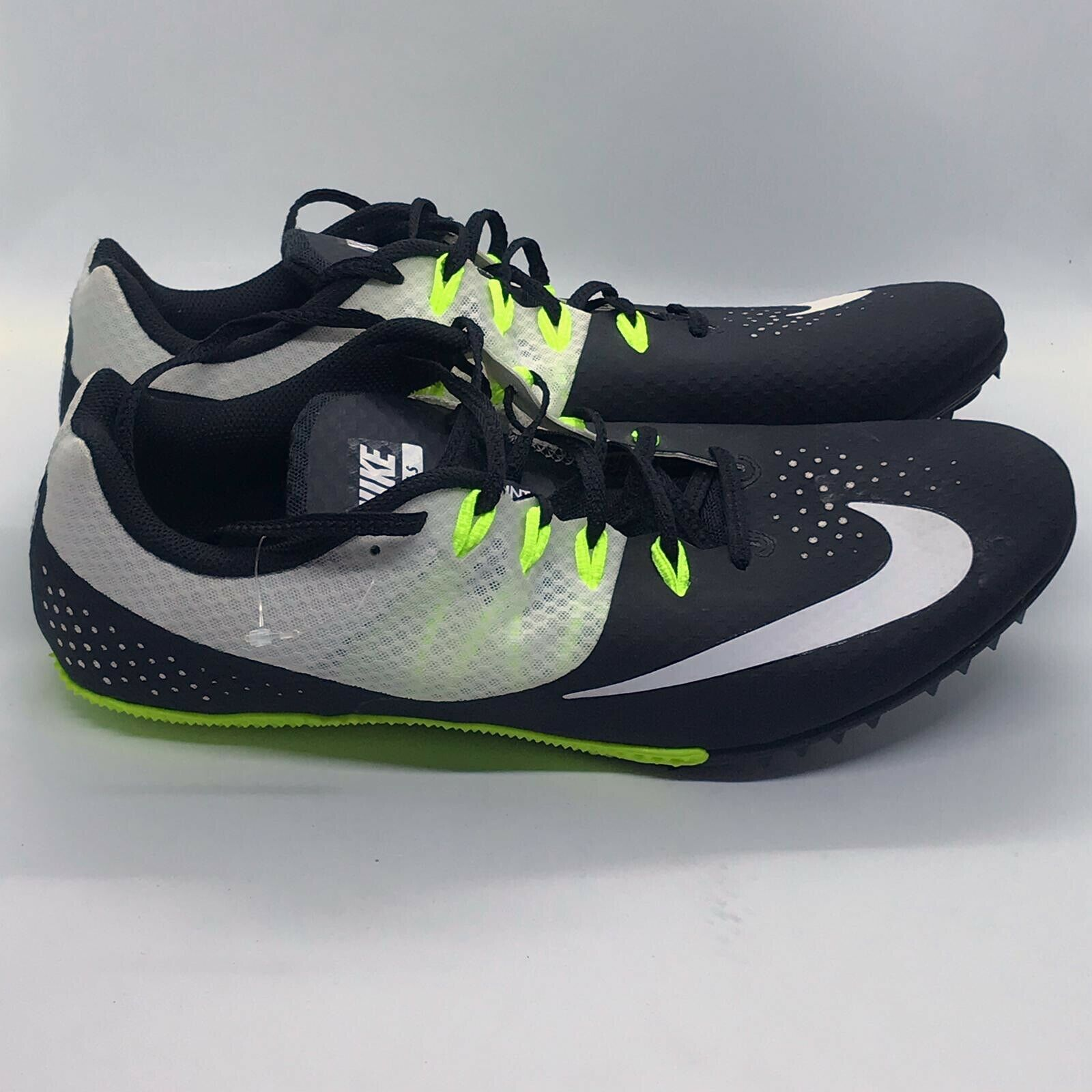 Nike Rival S 8 Sprint Racing Track shoes Black White Men's 806554-010 SZ 12