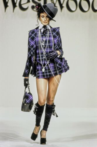 Vivienne Westwood Purple and Black Bustle Suit Fal