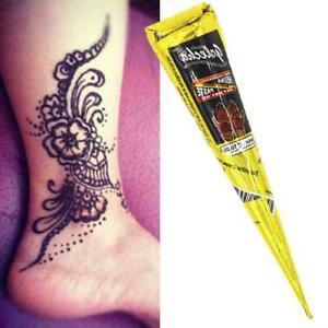 Henna-Tattoo-Paste-25g-Golecha-Kegel-Cone-Schwarz-Klinisch-O6O0-Body-I-Art-R2S5