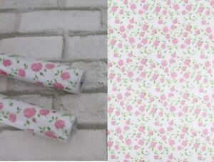 Details zu 2er Set Klebefolie Schrankfolie Blumen Laura rosa selbstklebende  Folie Möbel