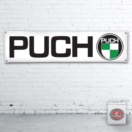 1700 x 430mm PUCH Banner heavy duty workshop MOPED SCOOTER MOTORCYCLE