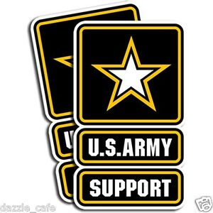 US-Army-SUPPORT-Stickers-Military-Die-Cut-Decals-2-Pack-3-034-x5-034-adhesive-vinyl