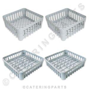 PACK-OF-4-x-DISHWASHER-GLASSWASHER-RACKS-400mm-x-400mm-PLATE-GLASS-BASKETS