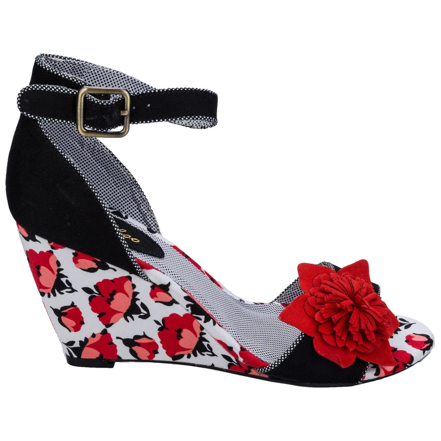 Ruby Shoo Womens Tulip Sky Open Toe Wedge shoes Sandals UK 3 Free Shipping