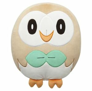 Pokemon Center Original Sun & Moon Rowlet Soft Big Cushion Japan with tracking
