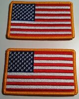2 United States Flag Military Patch With Velcro® Brand Fastener Emblem 39