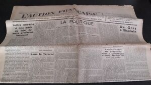 JOURNAL-NATIONALISTE-L-039-ACTION-FRANCAISE-5-AOUT-1934-N-217-ABE