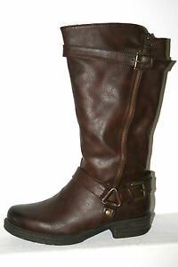 Dockers-Ankle-Boots-Women-039-s-Shoes-Boots-Riding-Boots-Boots-Brown-Calf-High