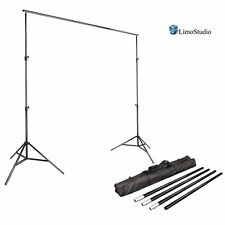Chromakey Green Screen Lighting Pole Kit 10Ft Backdrop Background Stand Frame