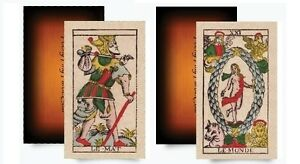 Major-Arcana-Tarot-of-Marseille-2-sets-of-all-22-Trumps-One-Set-in-Gift-Box