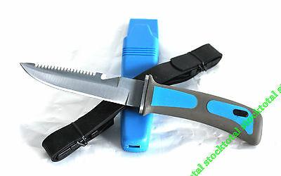 CUCHILLO SUBMARINISMO BUCEO DIVING KNIFE AZUL FUNDA FIBRA 31333 M2 STOCKTOTAL