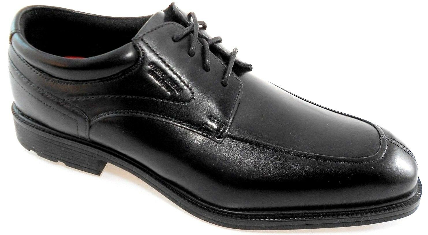 ROCKPORT A13001 APRON TOE herren schwarz WATERPROOF OXFORD Sz 9.5 WIDE(W)