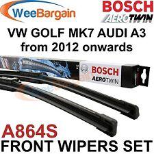 VW GOLF MK7 & AUDI A3 2012- Genuine BOSCH A864S Aerotwin Front Wiper Blades Set