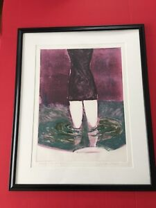 Fritz-Scholder-WADING-IN-THE-POOL-2-Original-Unique-Signed-Titled-Monotype