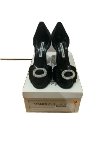 Manolo Blahnik black Satin shoes Size 38