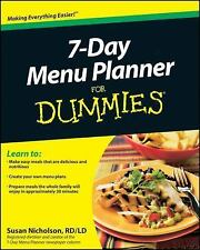 7-Day Menu Planner for Dummies by Consumer Dummies Staff and Susan Nicholson...