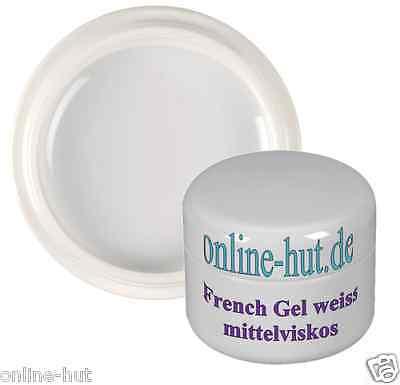 15ml UV French-Gel, Nail, mittelviskos, klassisch Weiss, Weiß