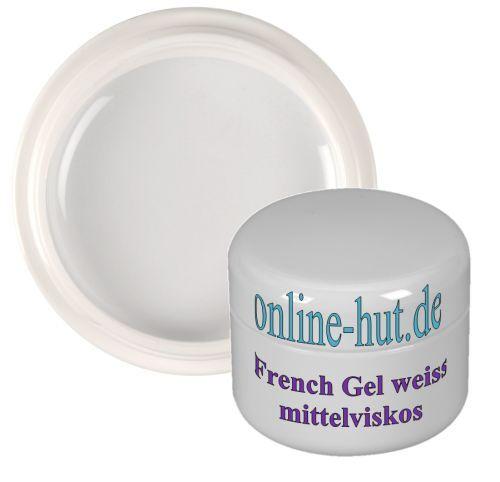 5ml UV French-Gel, Nail, mittelviskos, klassisch Weiss, Weiß