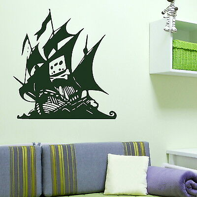 Pirates Ship Boys Wall Transfer / Interior Bedroom Art / Boys Wall Sticker  RA207 | eBay