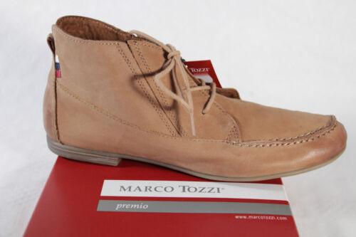 NEU! braun Marco Tozzi Damen Schnürschuh sehr weiches Leder