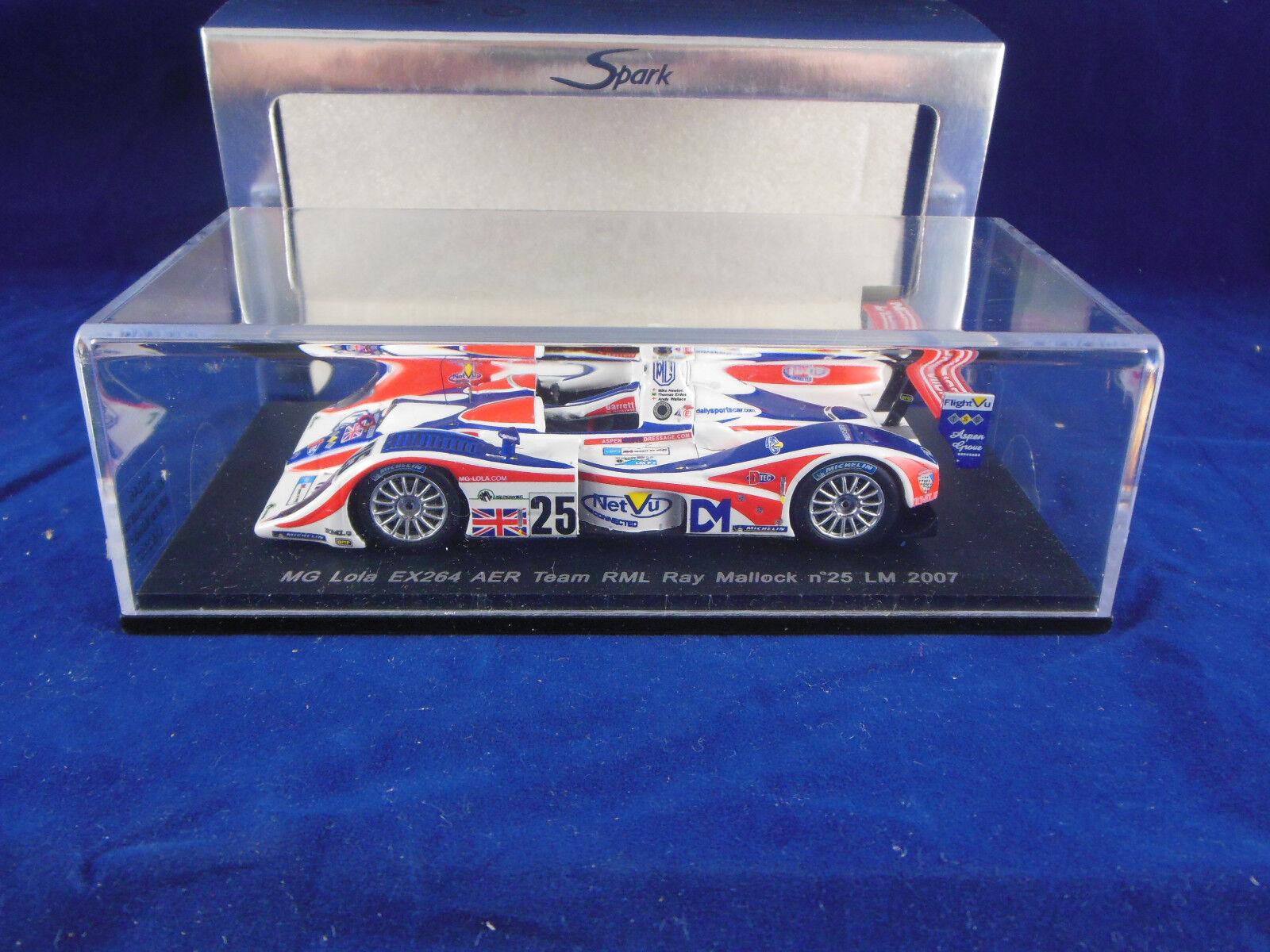 SPARK MINIMAX S0246 MG Lola EX264 AER Team RML  25 LE MANS 2007 T Erdos Nuovoton