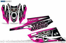 Decal Graphic Kit Arctic Cat FireCat F5,F6,F7 Sled Sabercat Snowmobile Wrap PINK