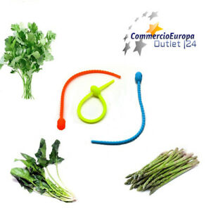 lacci laccetti 3 pezzi in morbido silicone lega verdure multiuso con foro ordine
