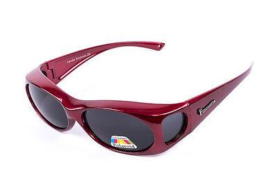 Figuretta Sonnen Überbrille UV400 Polarisiert rot Strass TV Werbung 2