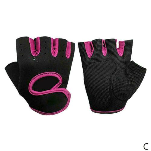 Womens Men Half Finger Work Out Gym Gloves Sport Weight Lifting Exercise K5Y8