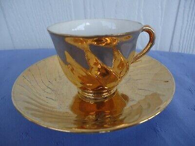 kilda china Australia 22k gold coffee cup /& saucer vintage retro st