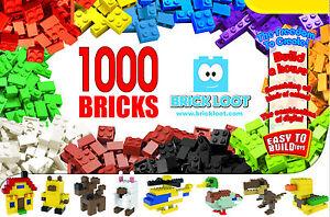 Brick-Loot-Quality-1000-Pack-Bulk-Box-Building-Bricks-NEW-fits-LEGO-Creative