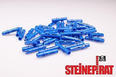 Lego 6x Technic Pin lang kurz 6558 blau ebl53