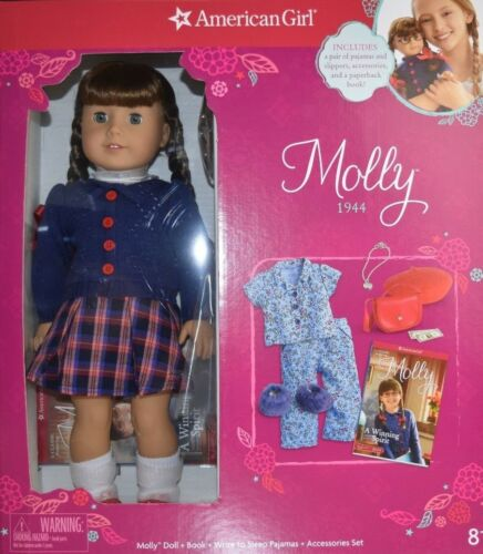 NEW American Girl MOLLY 1944 Doll Book and ACCESSORIES Beforever SAME DAY SHIPP