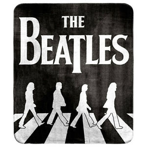 The Beatles Official Abbey Road Polar Fleece Printed Throw Rug Blanket Gift
