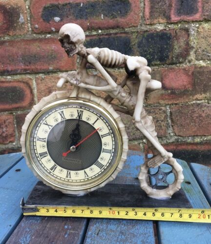 Wheels of Time Skeleton Penny Farthing Clock Bicycle Ornament Nemesis Now New