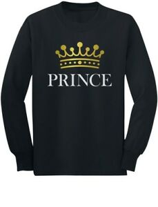 Prince Crown Gift for Son , Brother Little Boys Toddler/Kids Long sleeve T-Shirt