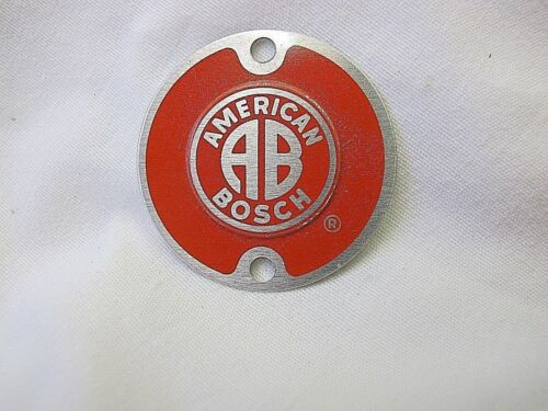 American Bosch Magneto n.o.s. AB name plate