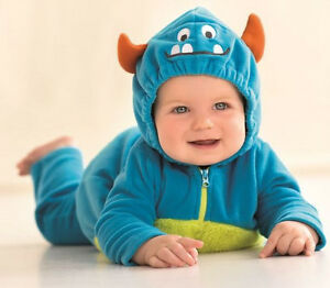 Image is loading Carters-Newborn-3-6-9-12-18-24-  sc 1 st  eBay & Carters Newborn 3 6 9 12 18 24 Months Little Monster Halloween ...