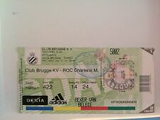 Football Ticket - Club Brugge KV - ROC Charleroi M. - 2005  UEFA