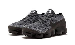 Women s Nike Air Vapormax Flyknit Oreo 2.0 Cookies Cream Black Sz 12 ... 363e27587e