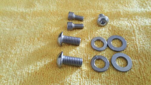 BRAND NEW OLD SCHOOL BMX REDLINE 401 FLIGHT CRANKS STAINLESS HARDWARE BOLTS
