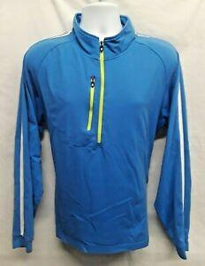 FOOTJOY-Golf-Men-039-s-Size-XL-Athletic-Fit-1-4-Zip-Blue-Pullover-Nylon-Blend-FJ