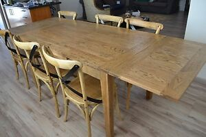 b14fcca134 Image is loading French-Provincial-Hamptons-extension-quality-Oak-Dining- Table